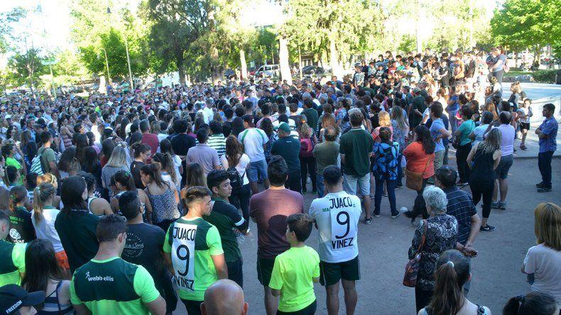Una multitud reclamó justicia para Joaquín, el rugbier asesinado en un robo