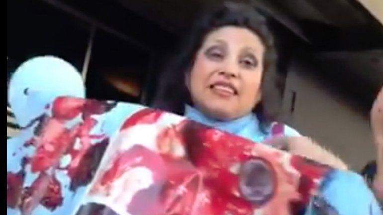 Una mujer provida acosó a Sofía Morandi