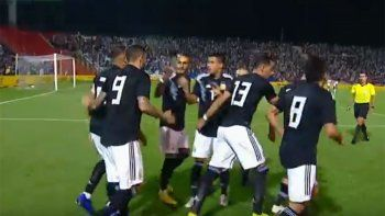con goles de icardi y dybala, argentina vencio a mexico 2 a 0