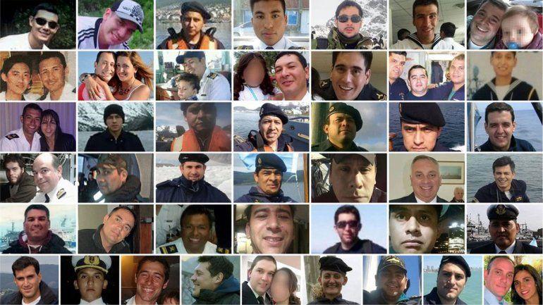 Proponen que 44 calles se llamen como los héroes del ARA San Juan
