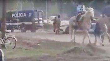 escandalo en un festival: heridos y un caballo muerto