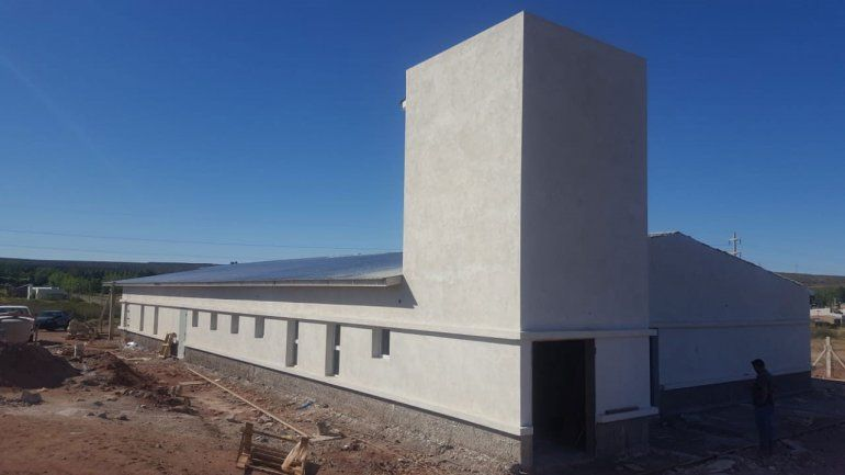 Está casi terminado el centro infantil en El Chocón