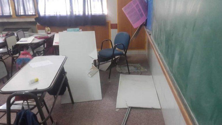 La Justicia clausuró una escuela luego de que cayera el cielo raso