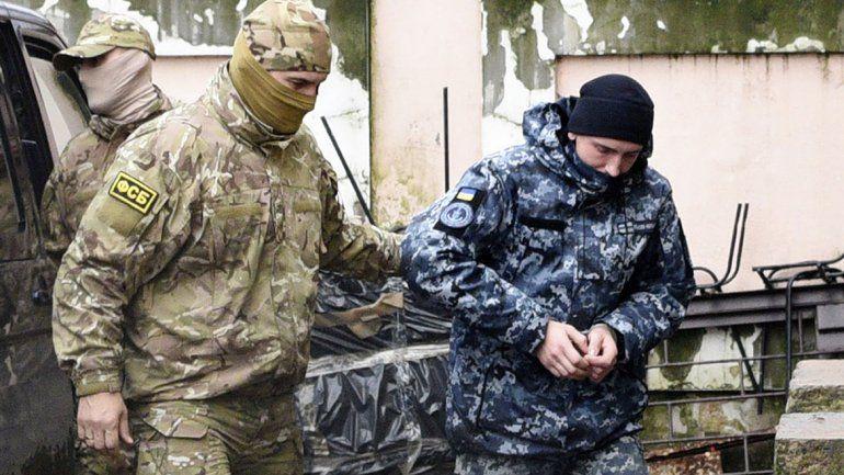 Rusia encarceló a 12 ucranianos por el incidente naval