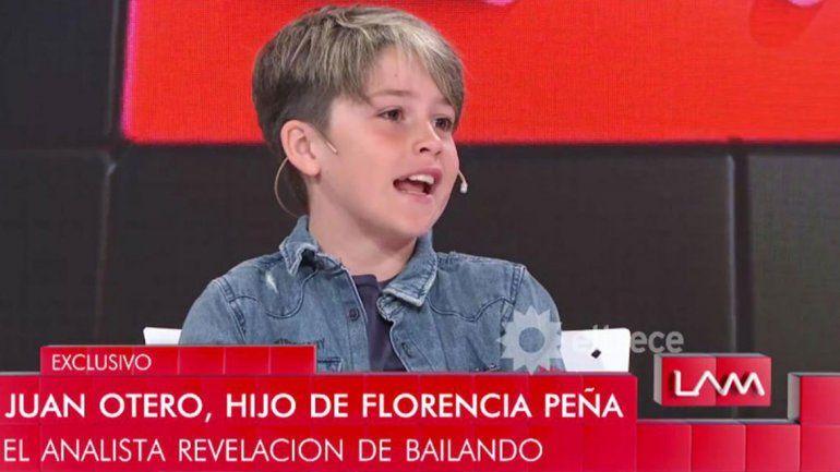 El hijo de Florencia Peña liquidó a su mamá