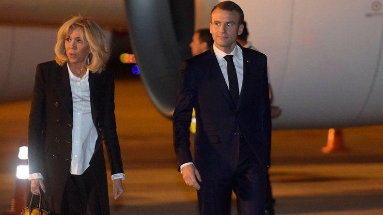 #CumbreG20: Macrón llegó y nadie fue a recibirlo