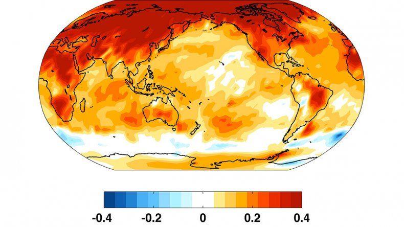 El 2018 sería el cuarto año más caluroso de la historia