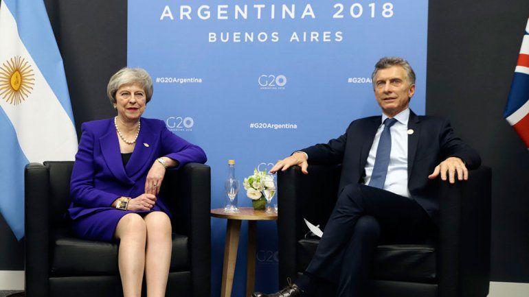 G-20: Macri y May se reunieron y no hablaron de Malvinas