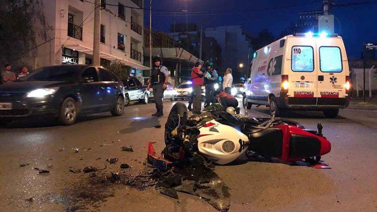 Mujer resultó herida tras un choque en Santa Genoveva