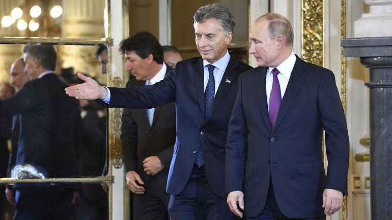 Energía y transporte, los acuerdos de Macri y Putin