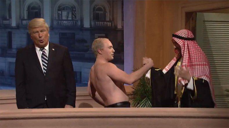 La desopilante parodia de Trump y Putin en el G20 de Buenos Aires