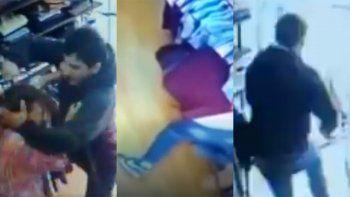 brutal intento de femicidio quedo captado por camaras