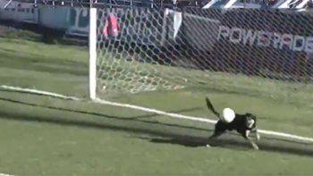 Parecía gol pero apareció un perro y la sacó de la línea