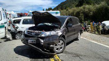 el camionero chileno provoco un choque en cadena