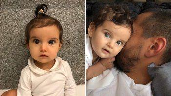 guercio y chiquito romero presentaron a su tercera hija