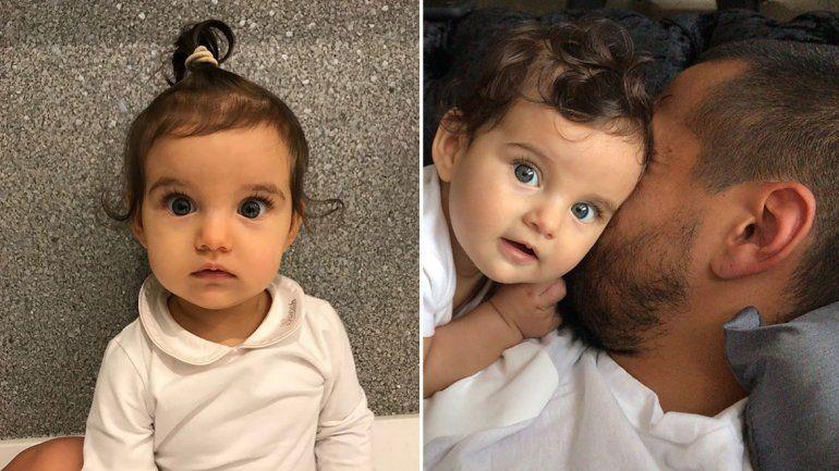 Eliana Guercio y Chiquito Romero presentaron en sociedad a su tercera hija