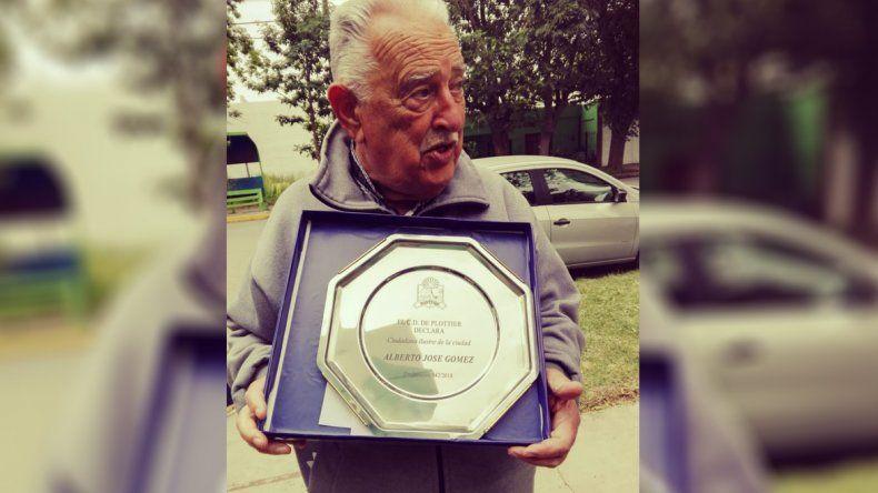 Declaran ciudadano ilustre al hombre que creó una escuela albergue en Plottier
