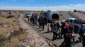 sin colectivos: vecinos seguiran caminando para llegar a destino