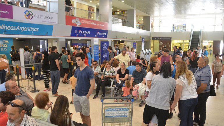 Crece sin techo la actividad del aeropuerto Perón