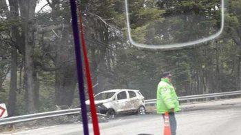 un motociclista murio a raiz de un choque frontal en la ruta 40