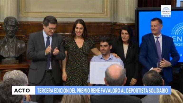 Enrique Plantey fue ternado al premio René Favaloro al Deportista Solidario
