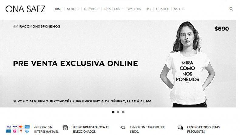 ¿Oportunismo? Una marca lanzó a la venta una remera con la frase Mirá como nos ponemos