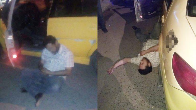 Un taxista manejaba totalmente borracho y chocó a una camioneta estacionada