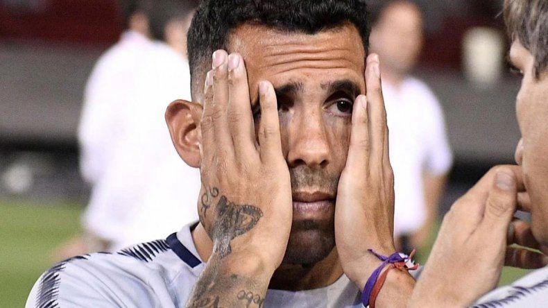 Tevez: Todos estamos con bronca y odio por perder