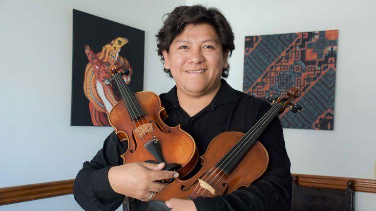 Del Teatro Colón a tocar el violín en un refugio de alta montaña