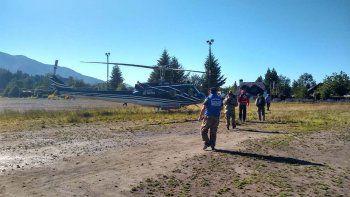 con drones y perros buscan al guia de villa la angostura