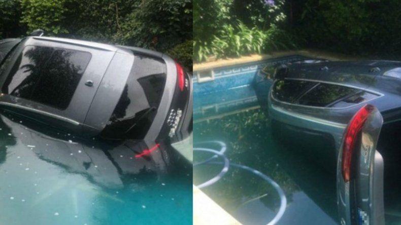 Video viral: cayó con camioneta Audi Q5 a la pileta del country