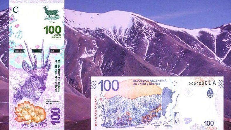 Conocé el nuevo billete de 100 pesos y la moneda de 10