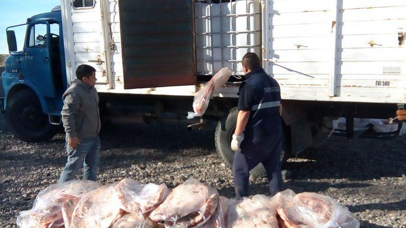 La Policía confiscó el asado para 25 mil neuquinos