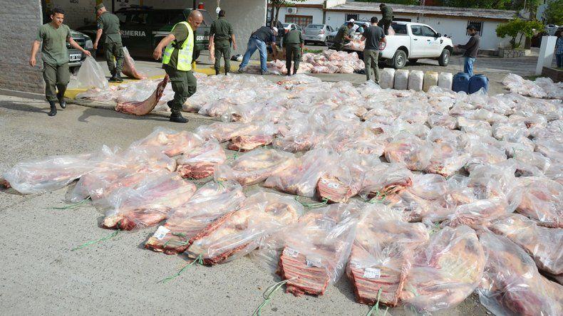 Otro golpe al tráfico de carne: decomisan casi 10 mil kilos que venían a la región