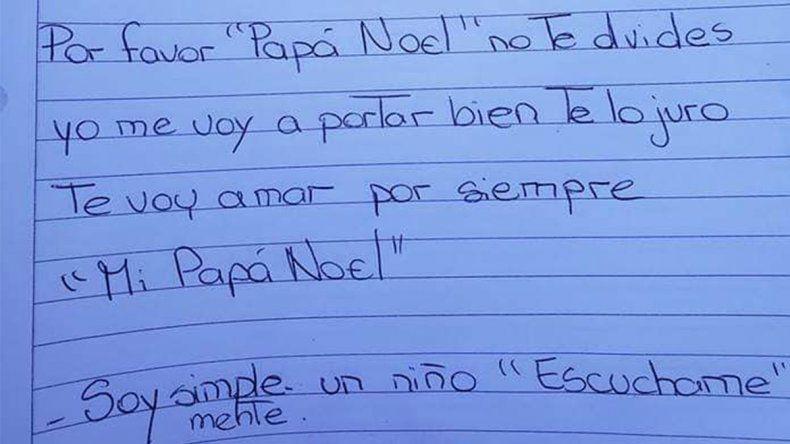 La emotiva carta de un nene para Papá Noel: Te pido que la cures a mi mamita