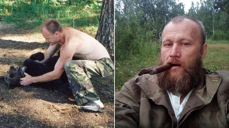 A un ruso lo devoró un oso que crió de cachorro