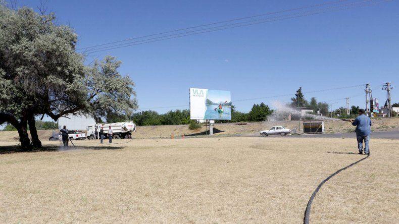 La Muni se hará cargo del riego del césped en Ruta 22