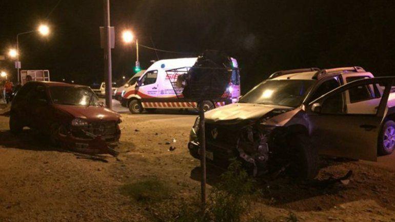 Tres heridos en un choque cerca del aeropuerto