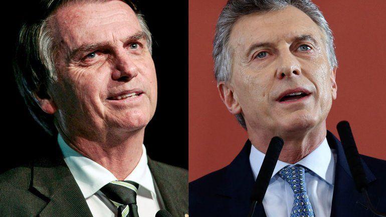 Mauricio Macri y Jair Bolsonaro van a caminar juntos