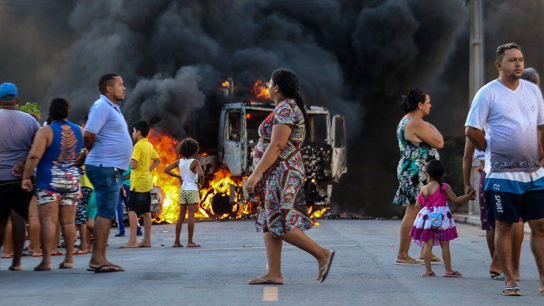 Caos en el norte de Brasil por ataques incendiarios