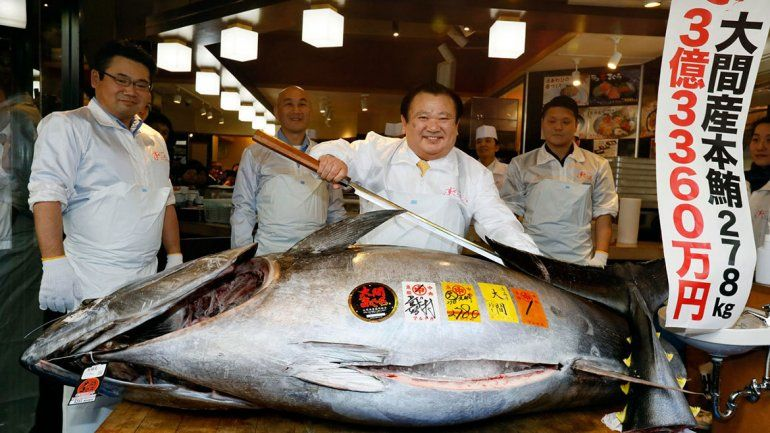 Récord: pagaron más de 3 millones de dólares por un atún