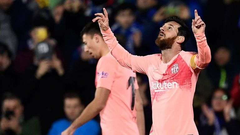 Messi arrancó el año con gol y triunfo del Barcelona ante el Getafe