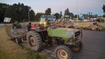 chacareros del alto valle protestaron contra el tarifazo