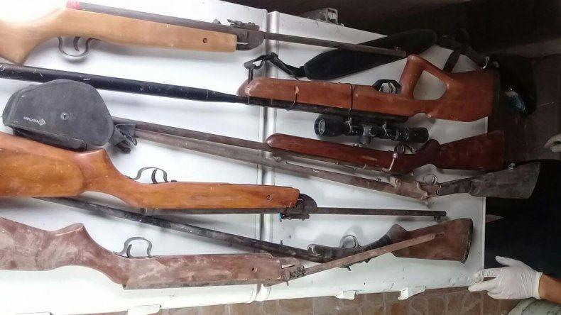 Un detenido y ocho armas secuestradas tras allanamientos por rivalidad de bandas