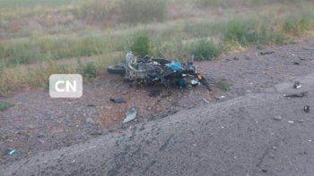 ruta 7: motociclista murio al chocar con un auto de frente