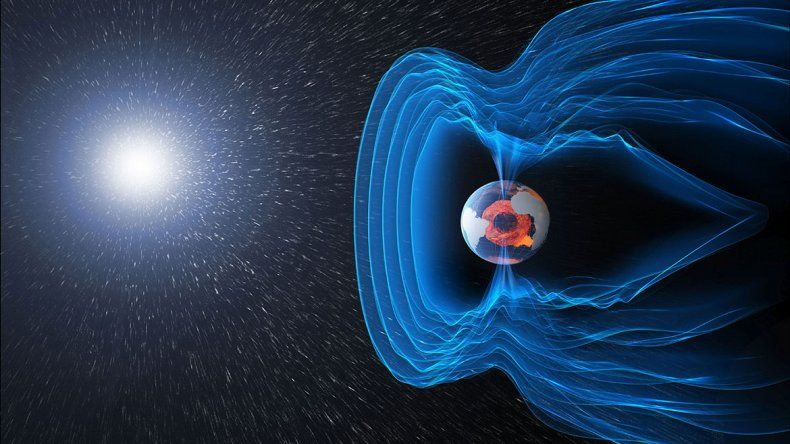 La Tierra sufre con el campo magnético