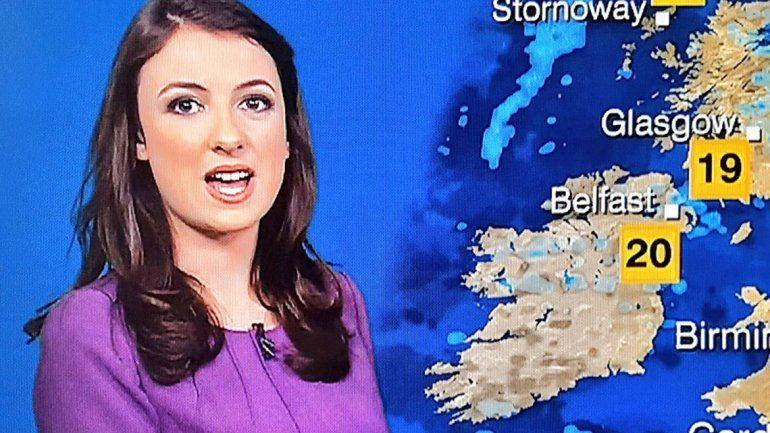 Le falta el antebrazo y es la chica del clima de la BBC