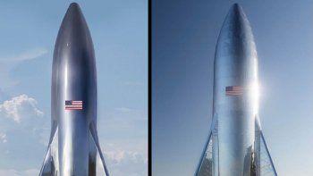 elon musk revelo el look retro de su cohete de prueba