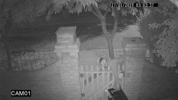difundio el video, hallaron al ladron, pero no el botin