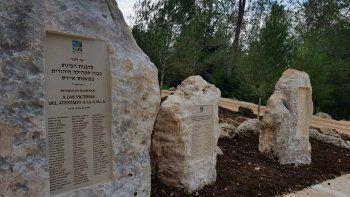 a 4 anos de la muerte de nisman, inauguran un monumento en israel